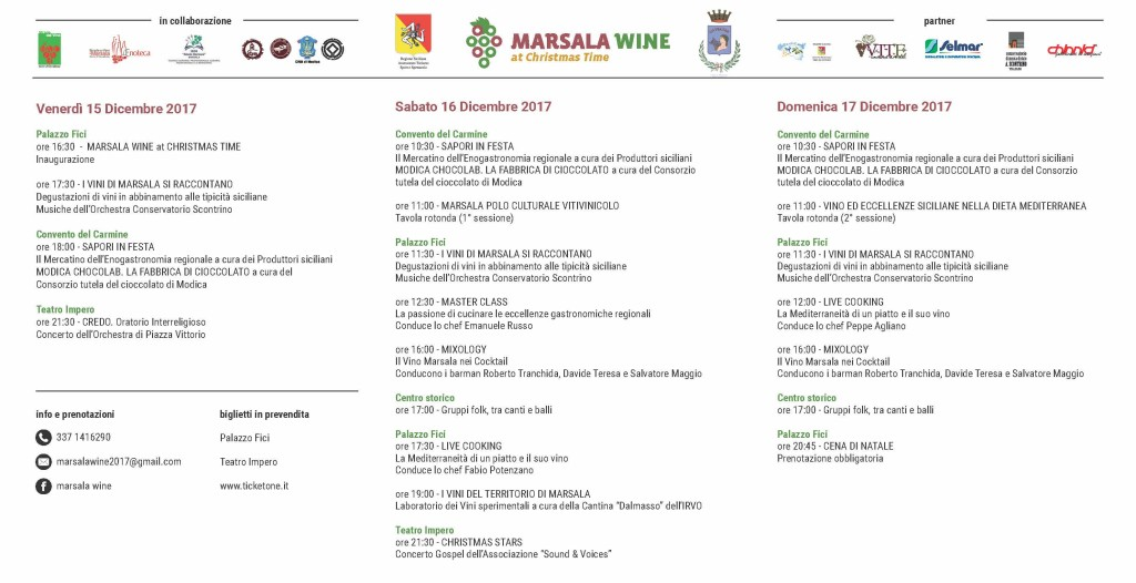 MarsalWine at ChristmTime Programma